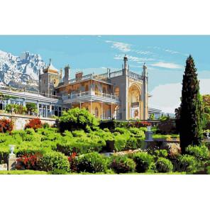 Раскладка Воронцовский дворец Раскраска картина по номерам на холсте KRYM-CR02