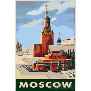 Раскладка Москва Раскраска картина по номерам на холсте PA80