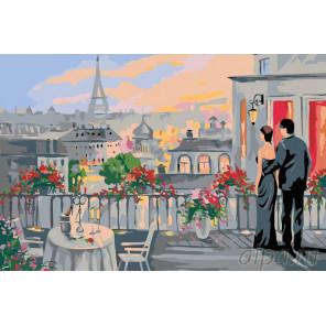 Свидание в Париже Раскраска картина по номерам на холсте FR02
