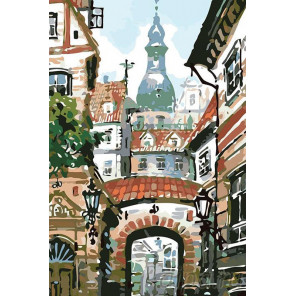 Уют старого города Раскраска картина по номерам на холсте LV24
