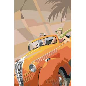 В модном авто Раскраска картина по номерам на холсте PA53