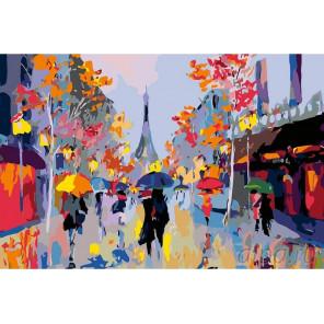 Яркий Париж Раскраска картина по номерам на холсте FR05