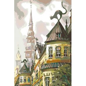 Крыши старого города Раскраска картина по номерам на холсте LV14