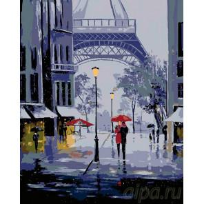Дождливый Париж Раскраска картина по номерам на холсте FR10