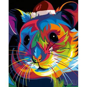 Радужный хомячок Раскраска картина по номерам на холсте PA13