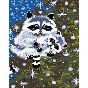 Раскладка Енотики Раскраска картина по номерам на холсте A286