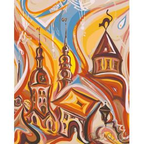 Старый город Раскраска картина по номерам на холсте LV02