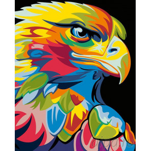 Раскладка Радужный орел Раскраска картина по номерам на холсте PA01