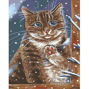 Зима за окном Раскраска картина по номерам на холсте A193