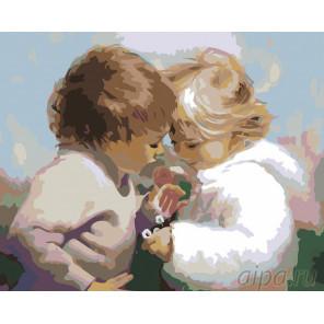 Букетик ромашек Раскраска картина по номерам на холсте RA026