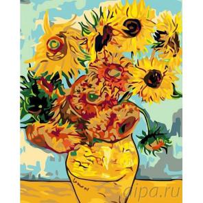 Подсолнухи Раскраска картина по номерам на холсте KRYM-FL10