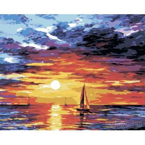Паруса на закате Раскраска картина по номерам на холсте LA19