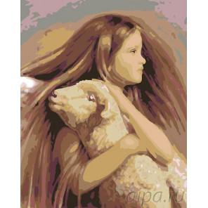 Юный ангел Раскраска картина по номерам на холсте RA011