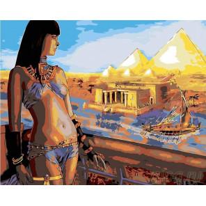 Египетская красотка Раскраска картина по номерам на холсте RA025