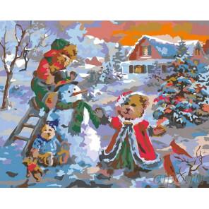 Рождество Раскраска картина по номерам на холсте NB05