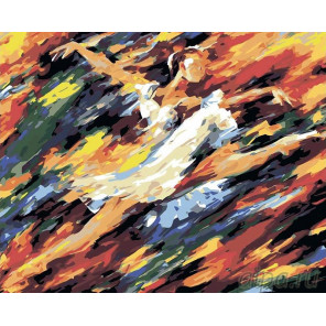 Во власти танца Раскраска картина по номерам на холсте LA25