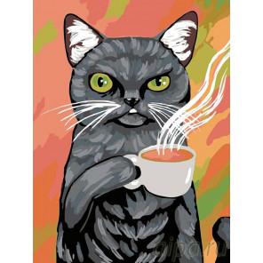 Раскладка Утренний чай Раскраска картина по номерам на холсте A130
