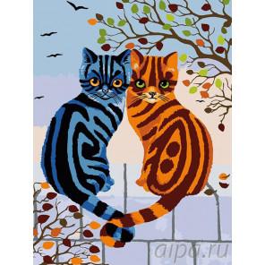 Мартовские котики Раскраска картина по номерам на холсте A96