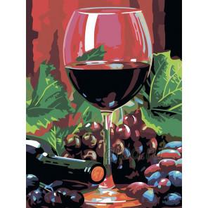 Красное вино Раскраска картина по номерам на холсте N02
