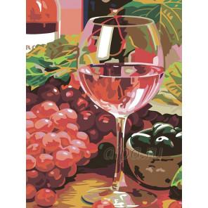 Розовое вино Раскраска картина по номерам на холсте N03