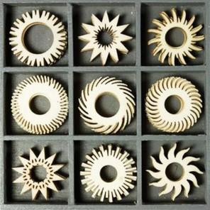 Солнечные фантазии Набор деревянных декоративных элементов для скрапбукинга, кардмейкинга cArt-Us