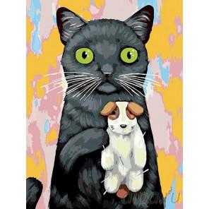 Раскладка Любимая игрушка-собачка Раскраска картина по номерам на холсте A326