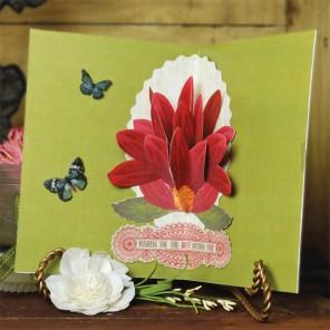 Большой цветок 2 шт Вставка объемная для декорирования K&Company