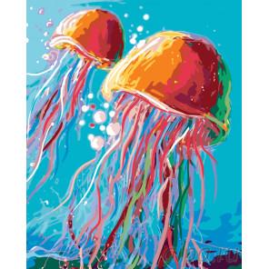 Медузы Раскраска по номерам на холсте Живопись по номерам A398