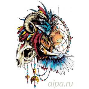 Тотем льва Раскраска по номерам на холсте Живопись по номерам PA107
