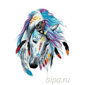 Красочная лошадь Раскраска по номерам на холсте Живопись по номерам PA124