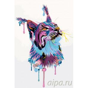 Красочная рысь Раскраска по номерам на холсте Живопись по номерам PA125