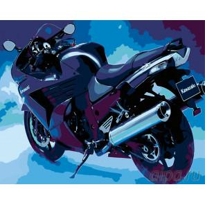 Мотоцикл в сумерках Раскраска по номерам на холсте Живопись по номерам ARTH-AH102