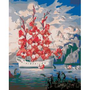 Цветочная страна Раскраска по номерам на холсте Живопись по номерам ARTH-AH109
