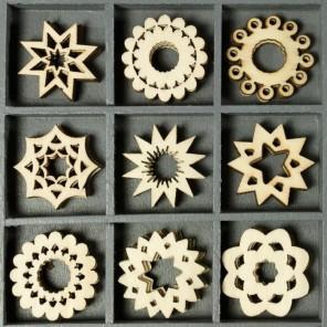 Орнаменты Набор деревянных декоративных элементов для скрапбукинга, кардмейкинга cArt-Us