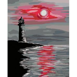 Схема Красная луна Раскраска по номерам на холсте Живопись по номерам RA109