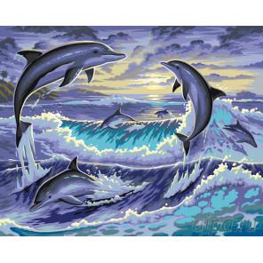 Танец дельфинов Раскраска по номерам на холсте Живопись по номерам RA123