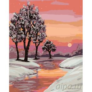 Теплые краски заката Раскраска по номерам на холсте Живопись по номерам RA129