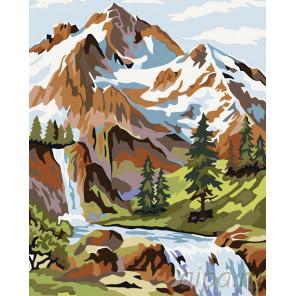 Снежные вершины Раскраска по номерам на холсте Живопись по номерам PP15