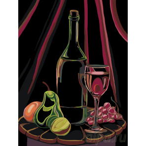 Вино и фрукты Раскраска по номерам на холсте Живопись по номерам RA171