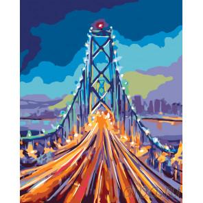 Огни ночного моста Раскраска по номерам на холсте Живопись по номерам RA187