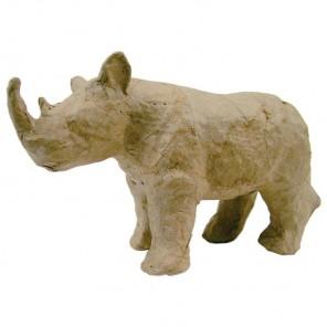 Носорог Фигурка мини из папье-маше объемная Decopatch