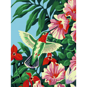 Колибри и цветы Раскраска по номерам на холсте Живопись по номерам KRYM-AN02