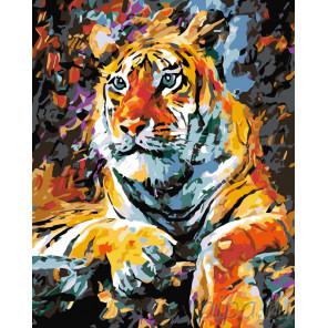 Портрет тигра Раскраска по номерам на холсте Живопись по номерам LA34