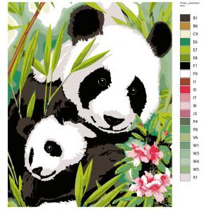 Раскладка Папа панда Раскраска по номерам на холсте Живопись по номерам ARTH-PandyV