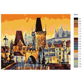 Раскладка Колоритный городок Раскраска по номерам на холсте Живопись по номерам KTMK-86624