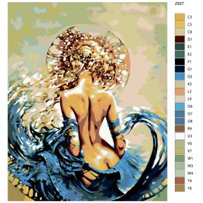 Схема Царица волн Раскраска по номерам на холсте Живопись по номерам Z-Z927