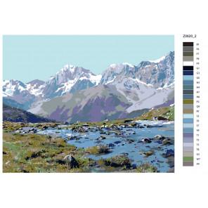 Раскладка Красота гор Раскраска по номерам на холсте Живопись по номерам Z0620