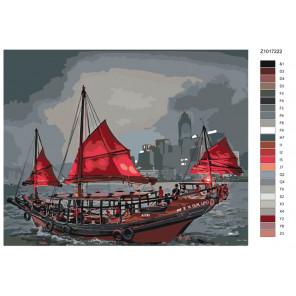 Раскладка Китайские рыбаки Раскраска по номерам на холсте Живопись по номерам Z1017222