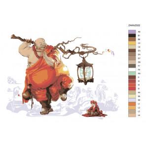 Раскладка Восточная мудрость Раскраска по номерам на холсте Живопись по номерам ZAKAZ022