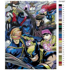 Раскладка Команда фэнтези Раскраска по номерам на холсте Живопись по номерам Z101927